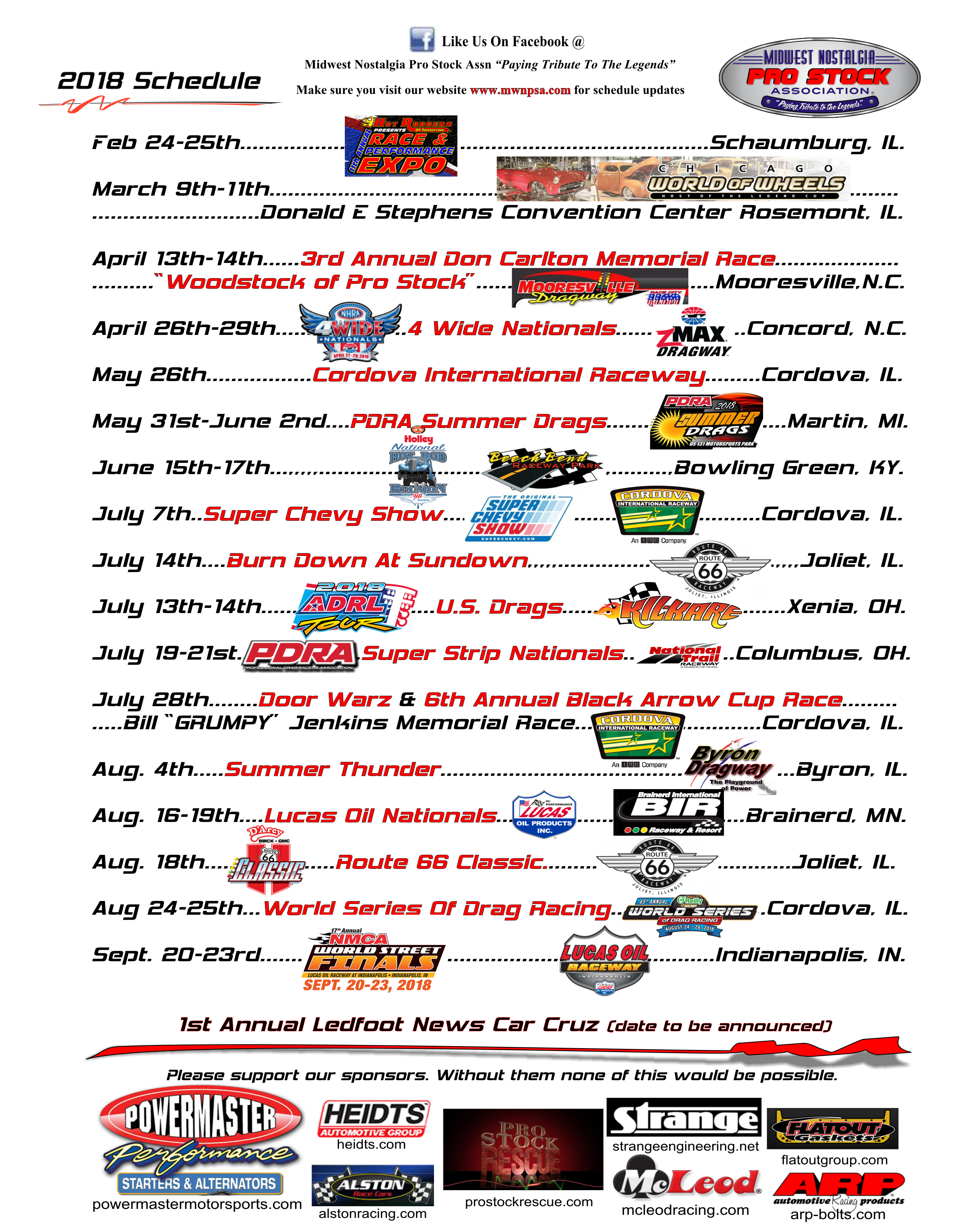 photo about Nationals Printable Schedule named WELCOME** MIDWEST NOSTALGIA Skilled Inventory Affiliation House Website page